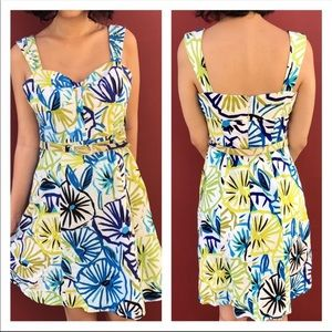 Jax Sleeveless Tropical Dress